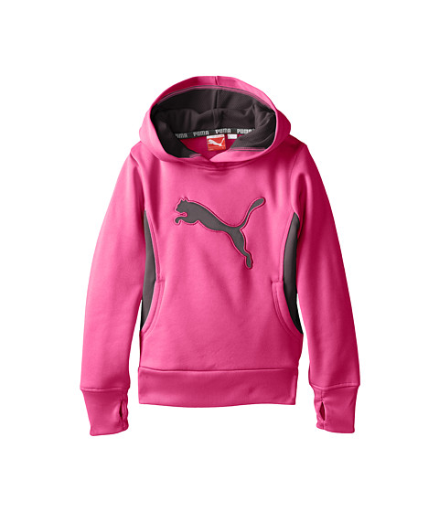 Puma Kids Cat Hoodie with Thumb Hole (Little Kids) Pink ...