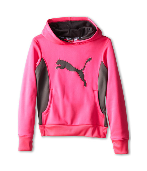 Puma Kids Cat Hoodie w/ Thumb Hole (Big Kids) Pink Glo ...