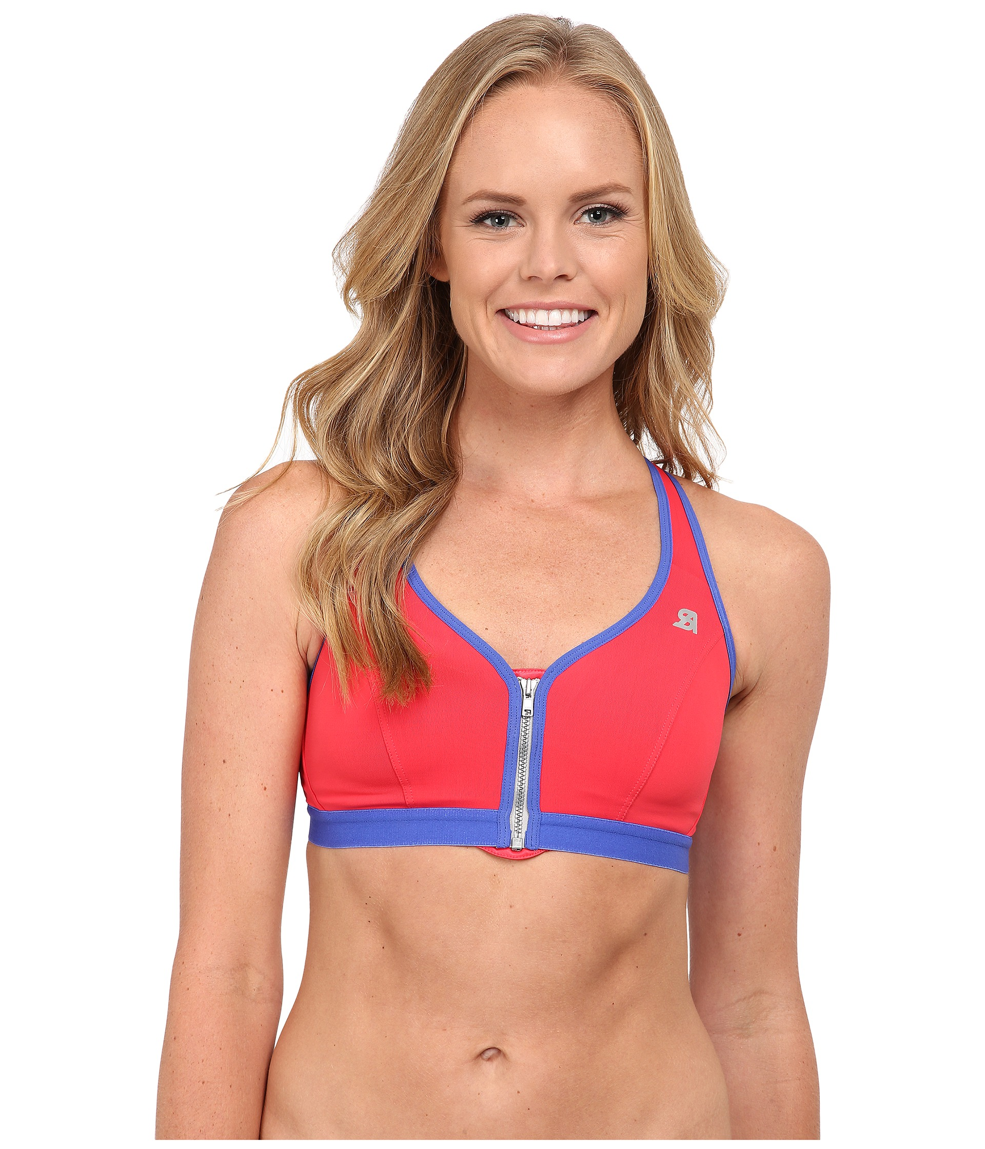 936e96cfe5984 Shock Absorber Active Zipped Plunge Sports Bra S00BW on PopScreen