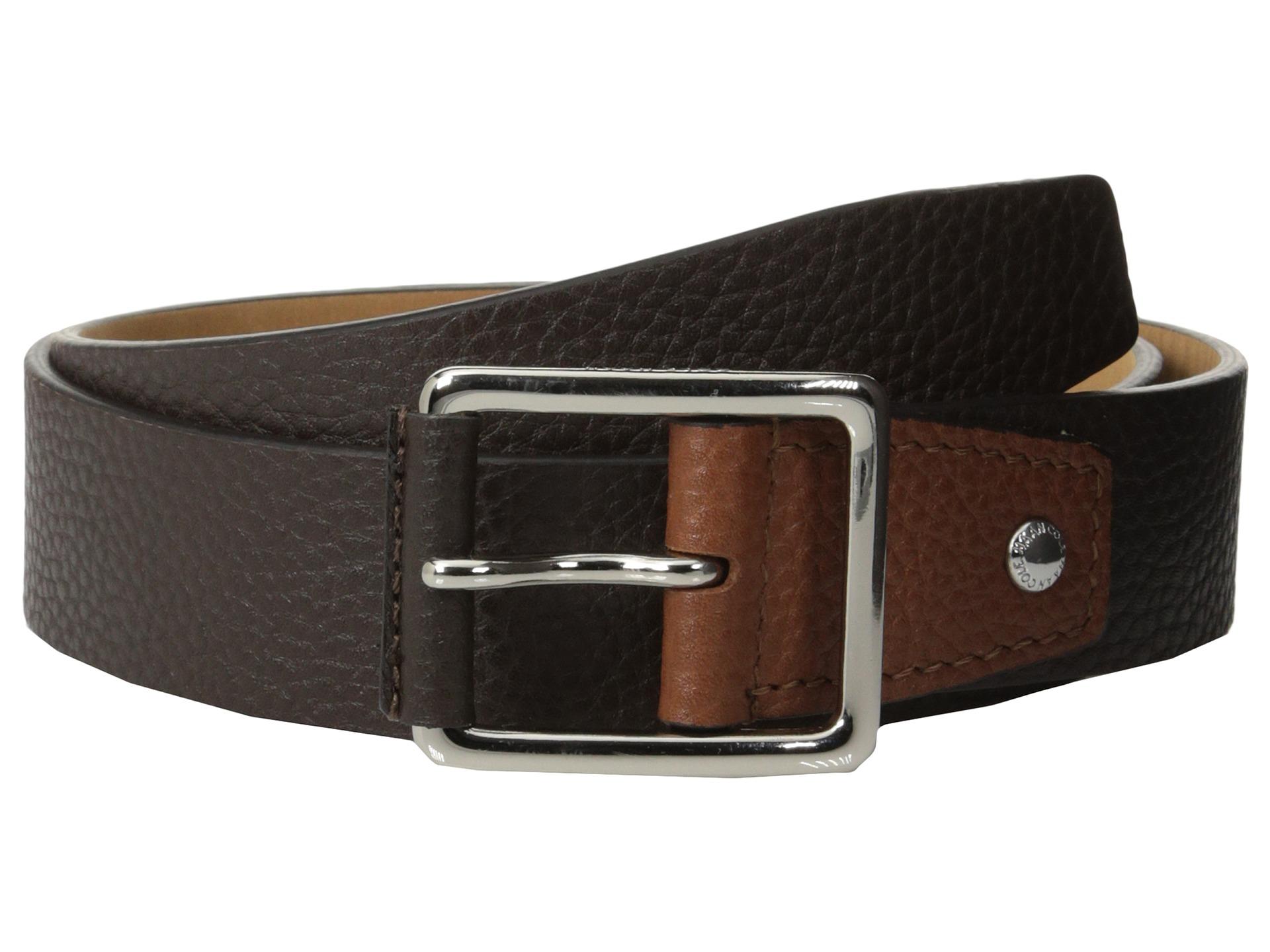9af6d3d296d3cf Cole Haan 35mm Flat Stitch Strap Pebble Leather Pop Color Tab on ...