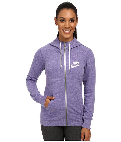 Nike Gym Vintage Full Zip Hoodie Washed Purple Sail 6pm Com