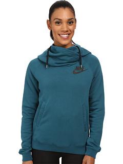 c1d310550 1Sale Nike Rally Funnel Neck Hoodie Teal/Black/Black - Cheap Women ...