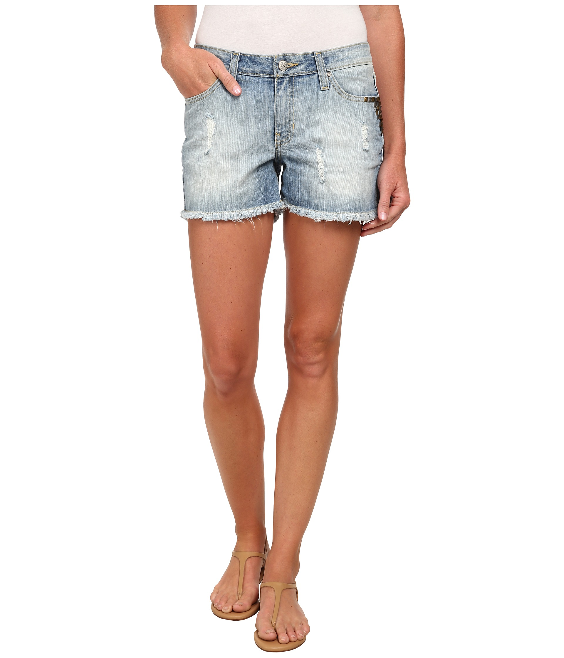 Gypsy SOULE Button-fly Closure Studette Shorts