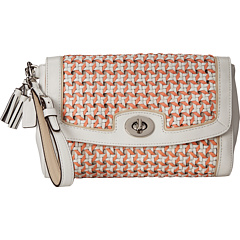 $80.99 COACH Legacy Caning Large Flap Clutch