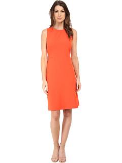 Anne Klein Stretch Crepe Fit Amp Flare Dress Orange 6pm Com