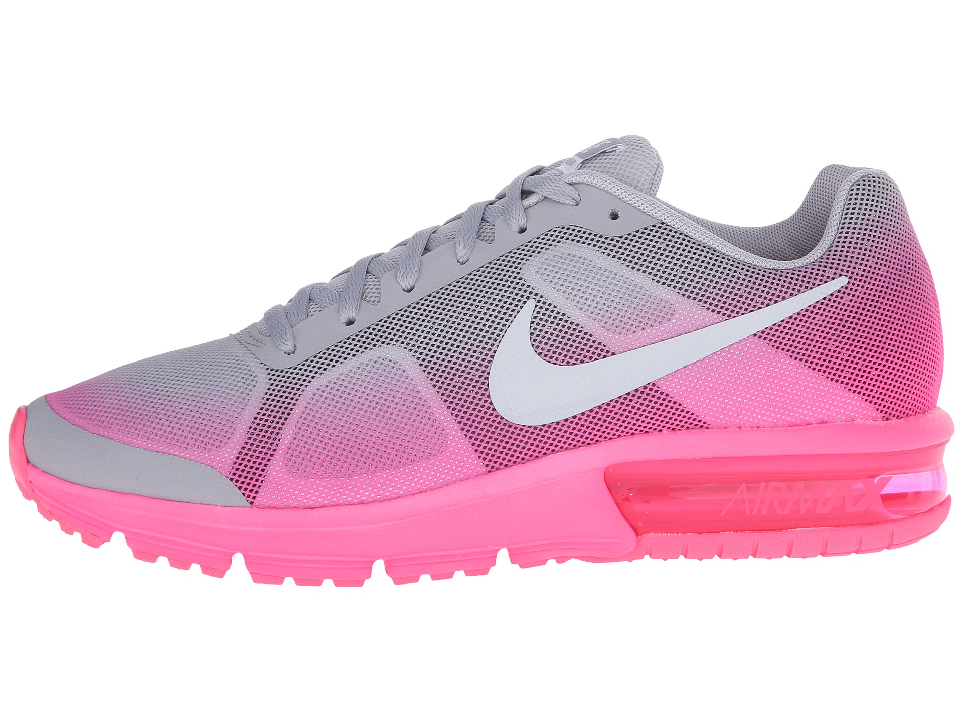 Nike Kids Air Max Sequent Big Kid Wolf Grey Hyper Pink