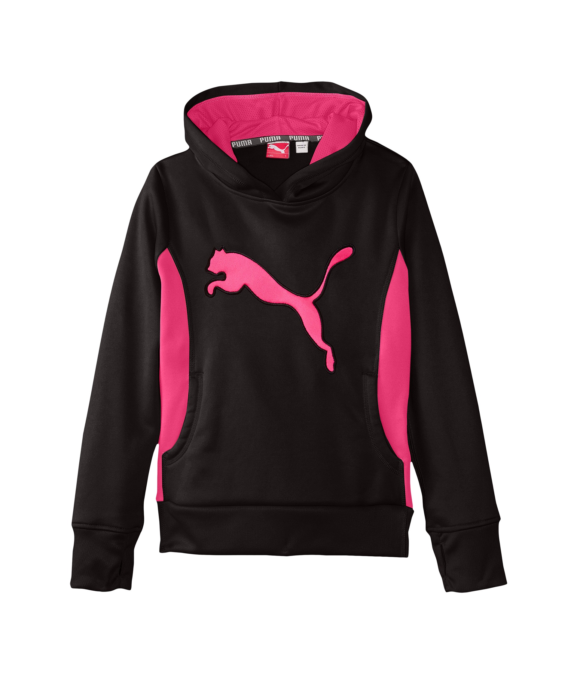 Puma Kids Cat Hoodie w/ Thumb Hole (Big Kids) at Zappos.com