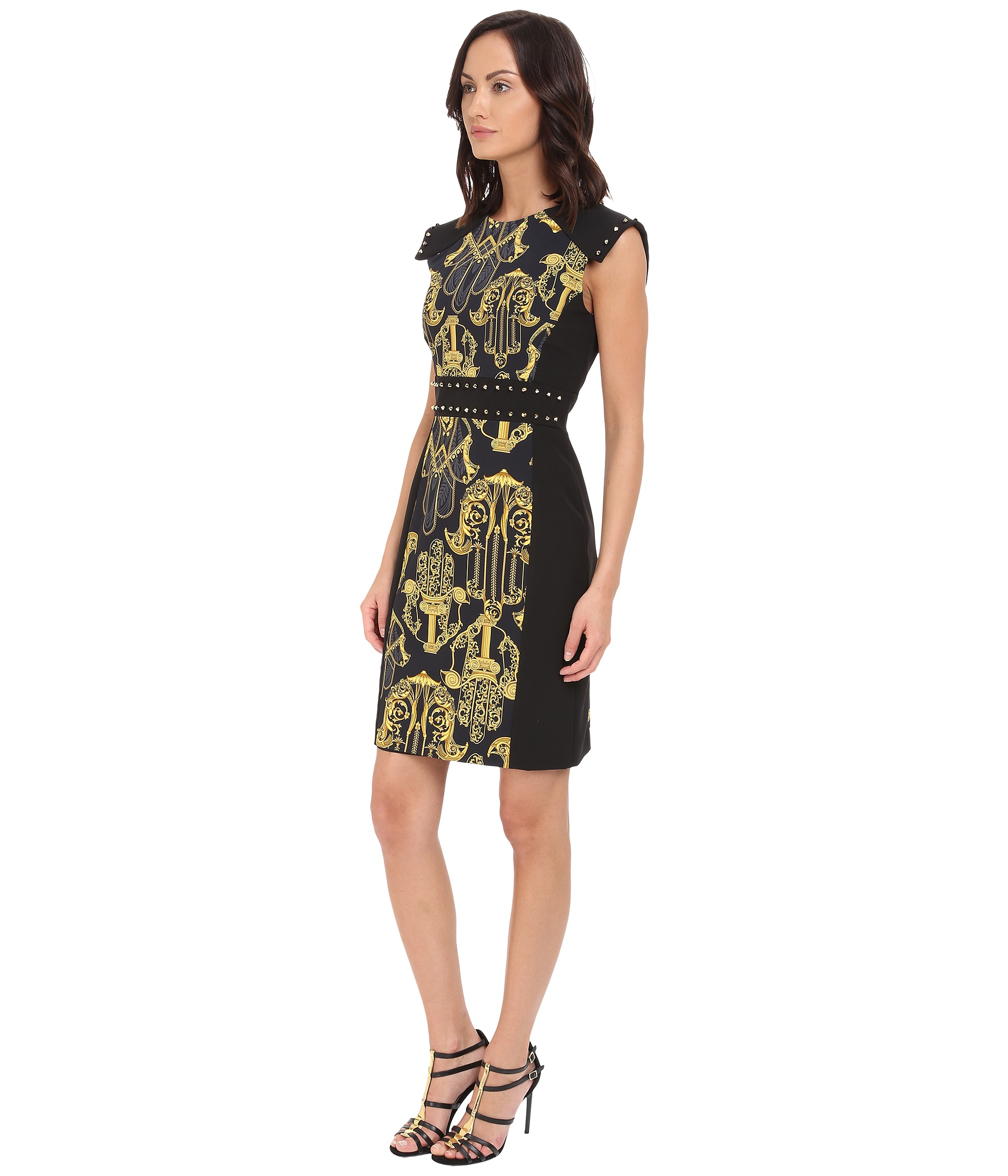 black and gold studded dress reviews: black and gold rhinestone dress women red dress with gold red and gold fringe dress black dress with gold studs black and silver mesh dress black dress with silver sequins. Related Categories Women's Clothing & Accessories. Dresses.