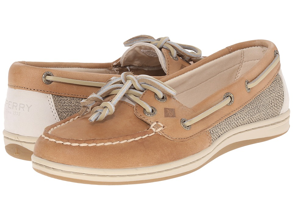 SPERRY TOP-SIDER BOAT SHOES: Favorited by many, these non-slip boating shoes were born in to Paul Sperry when he carved grooves in a gum rubber sole after watching his dog race effortlessly across the ice. His passion drove him to success, and Sperry became famous to sailors, military and civilian alike.