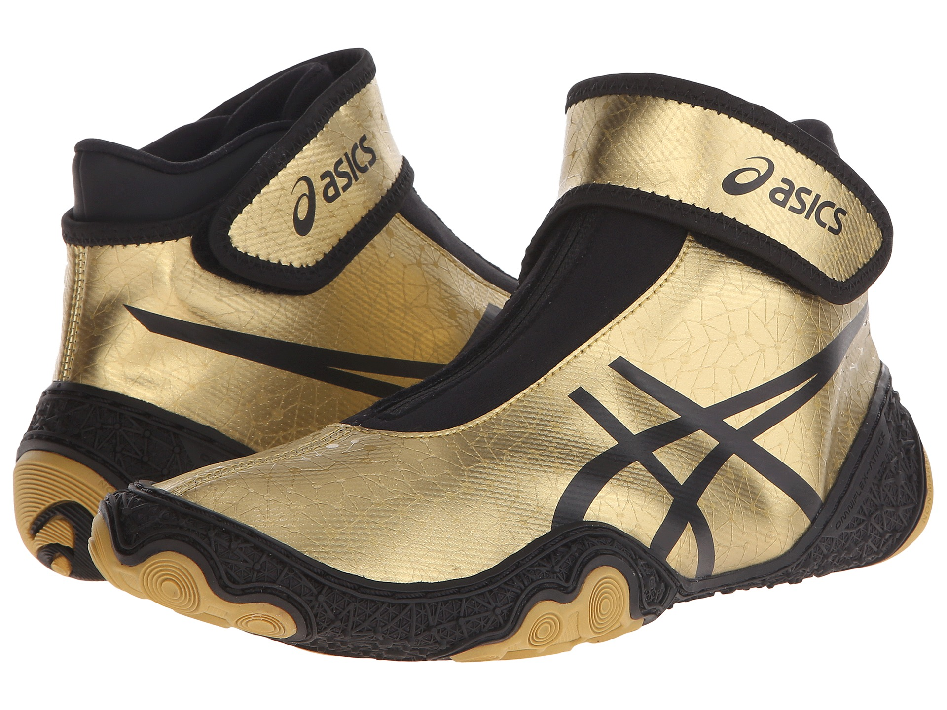 Black And Gold Youth Wrestling Shoes