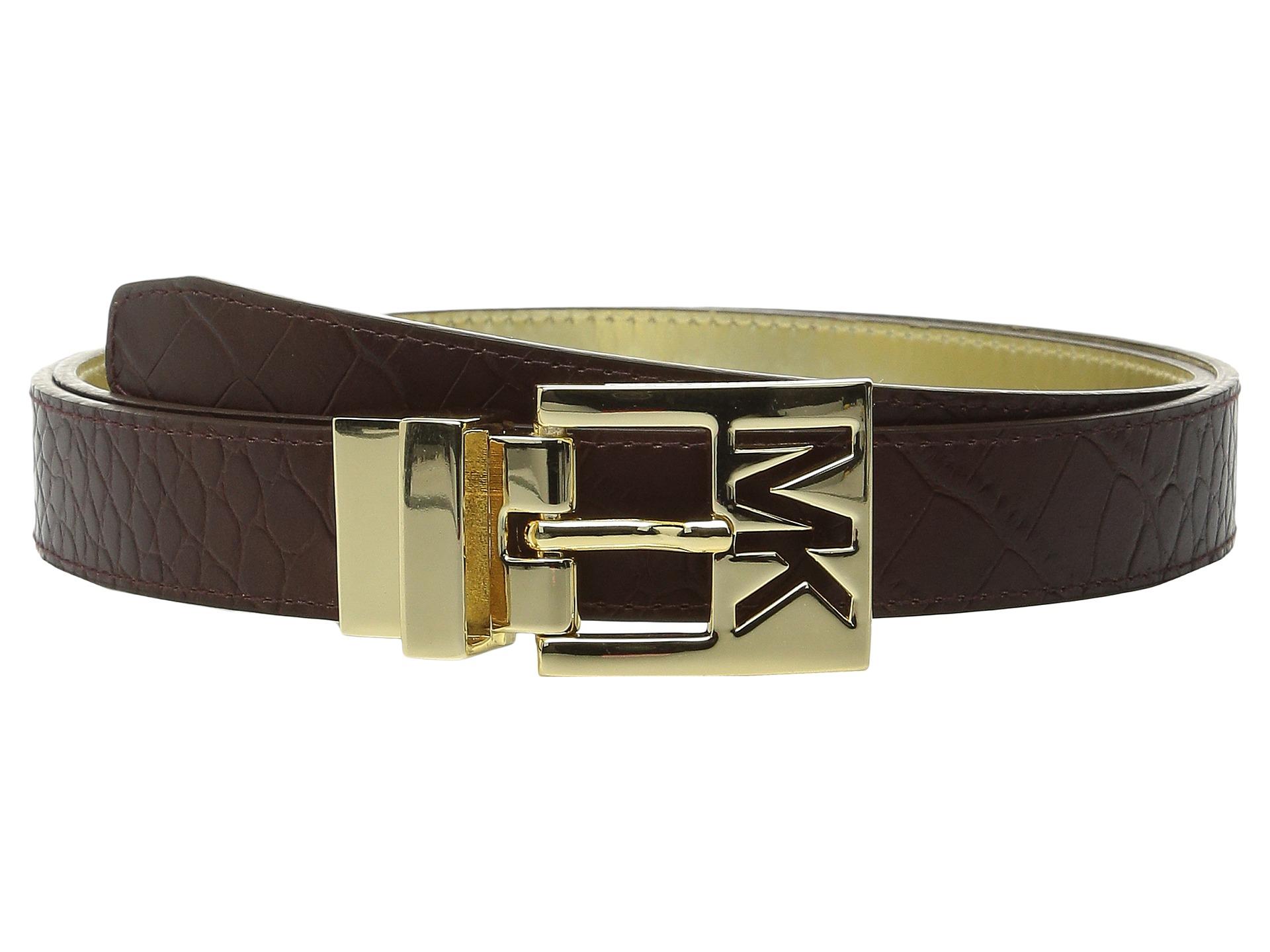 Michael Kors 25mm Reversible Belt With Mk Cutout