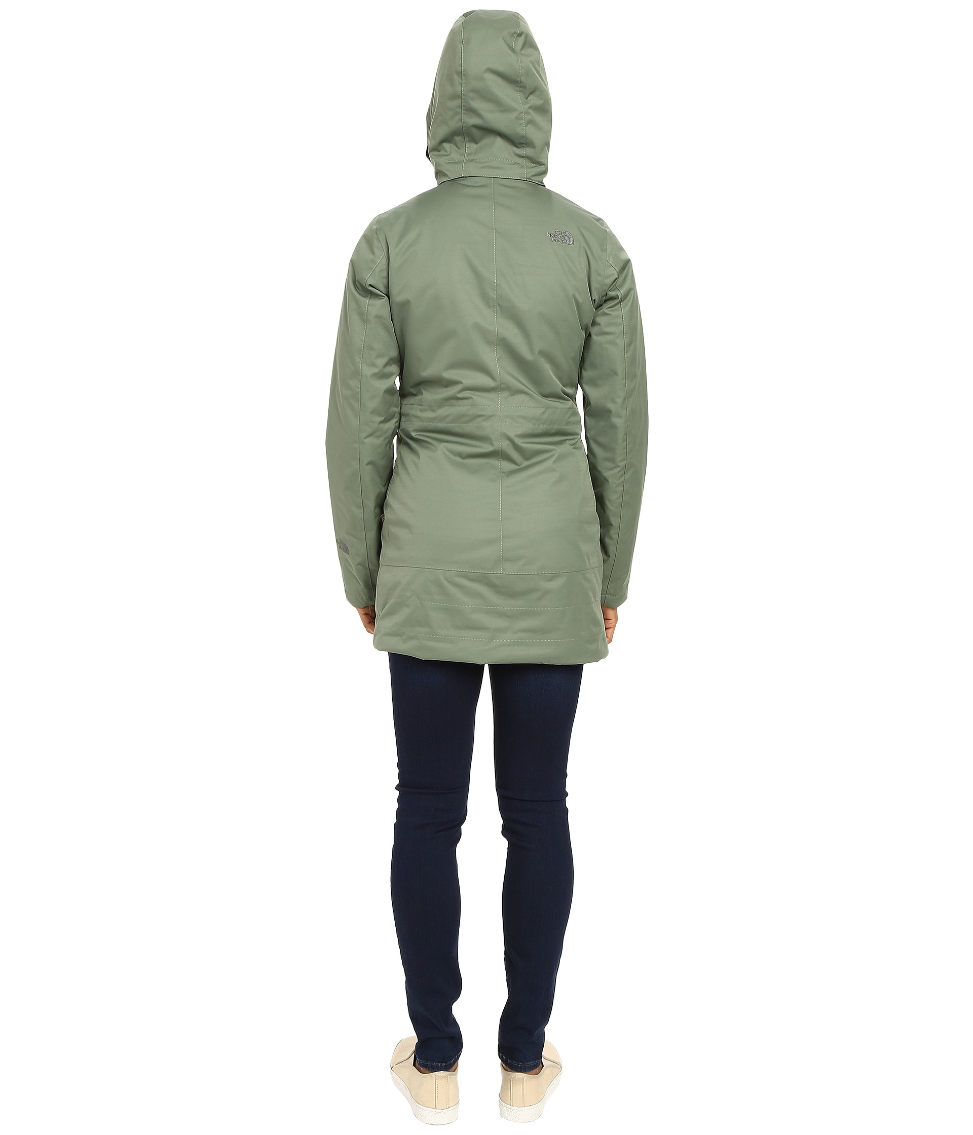 The North Face Insulated Ancha Parka Laurel Wreath Green