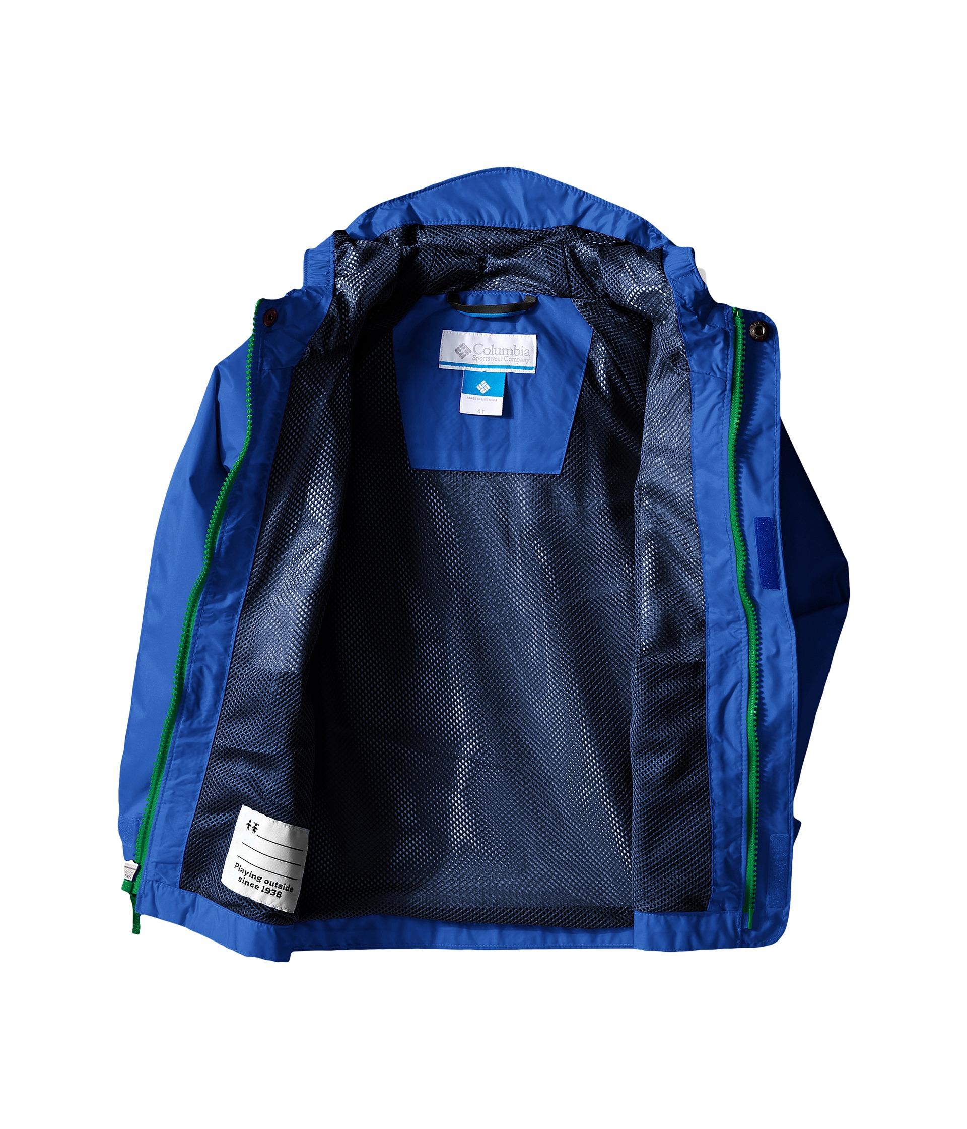 e2bf29b3e7a1 Columbia Kids Fast   Curious™ Rain Jacket (Toddler) Hyper Blue Plaid ...