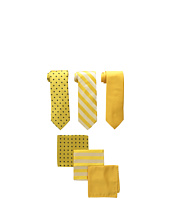 3-Pack Tie Assortment with Pocket Squares Stacy Adams