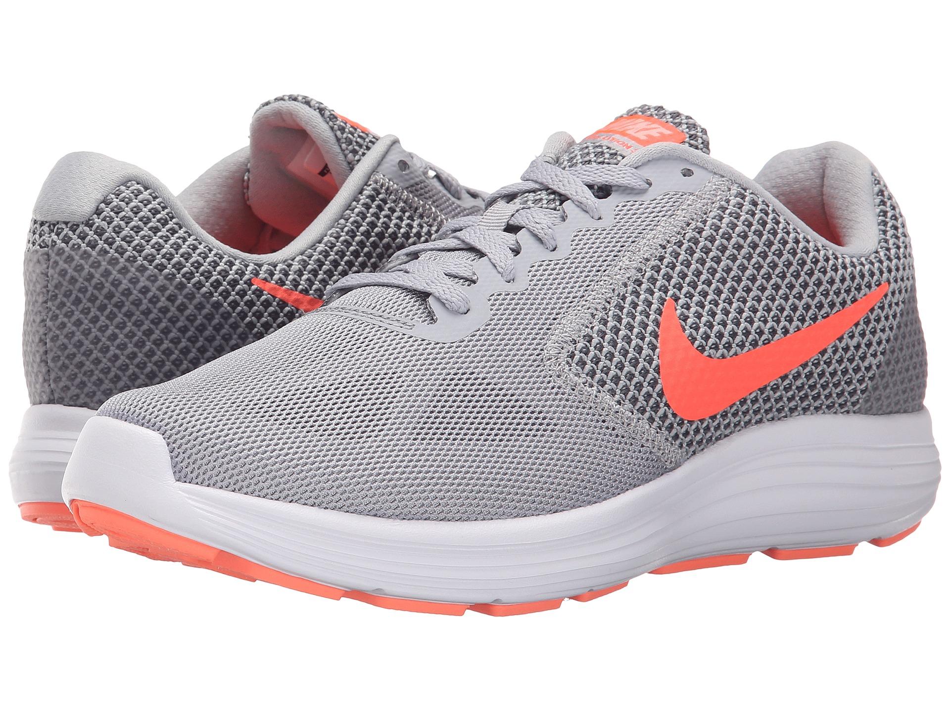 Nike Grey And Orange Running Shoes Womens