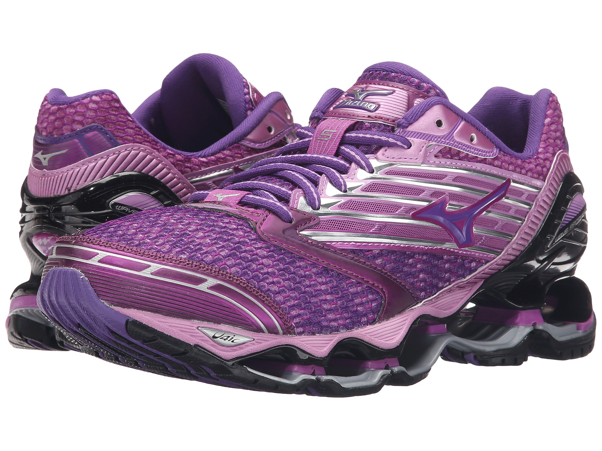 the latest e2079 ade73 Mizuno Wave Prophecy 5 Hyacinth Violet Royal Purple Black on PopScreen