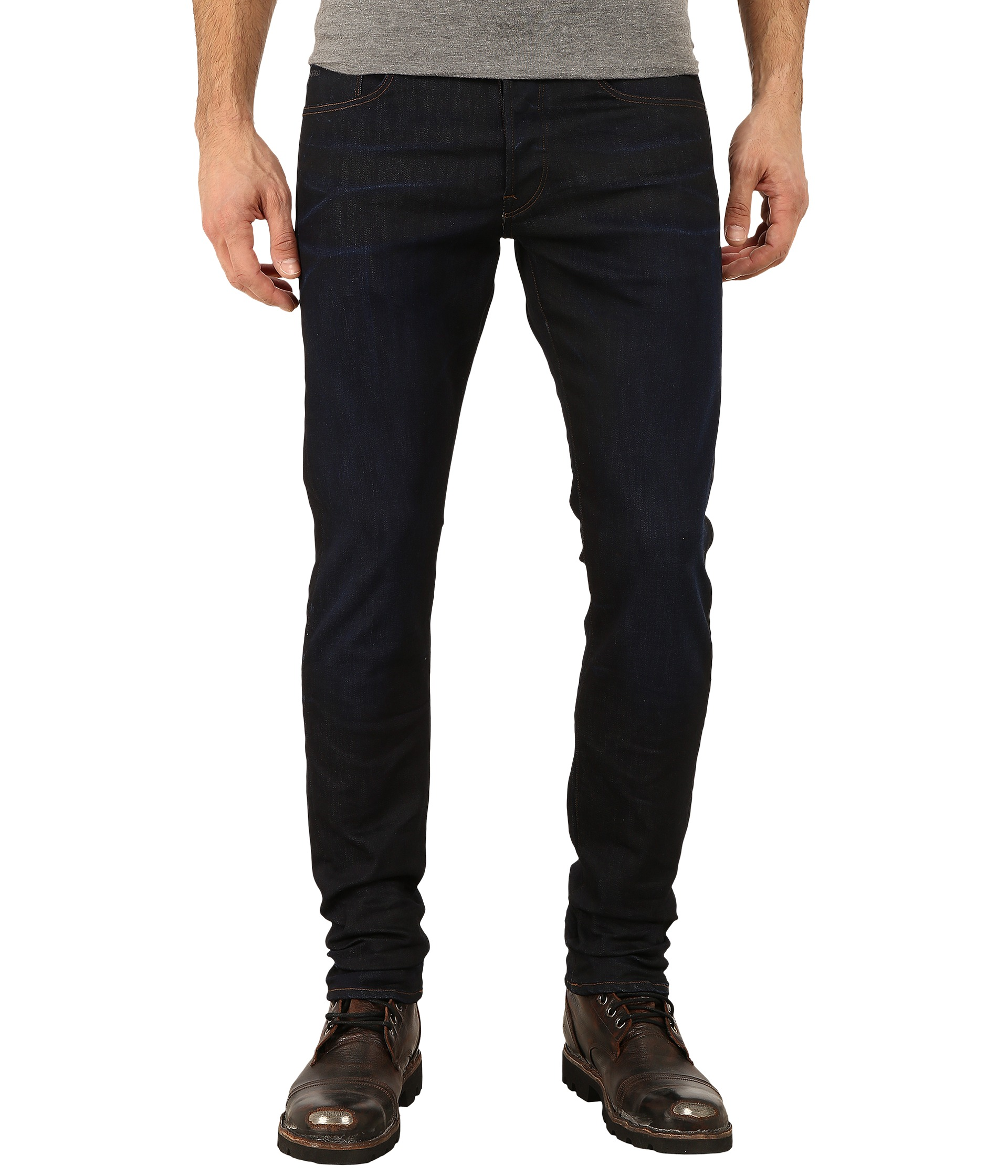 61358ad8 80%OFF G Star 3301 Tapered Fit Jeans in Visor Stretch Denim Dark Aged at
