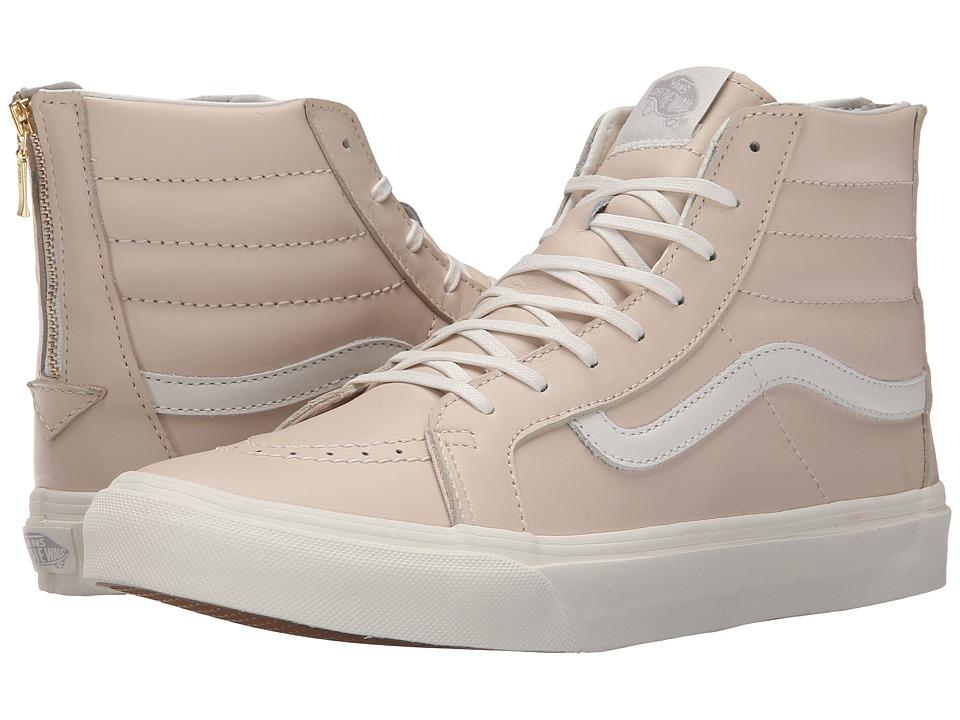 f0c773895fc6fd Vans SK8 Hi Slim Zip Leather Whispering Pink Blanc de Blanc Skate Shoes