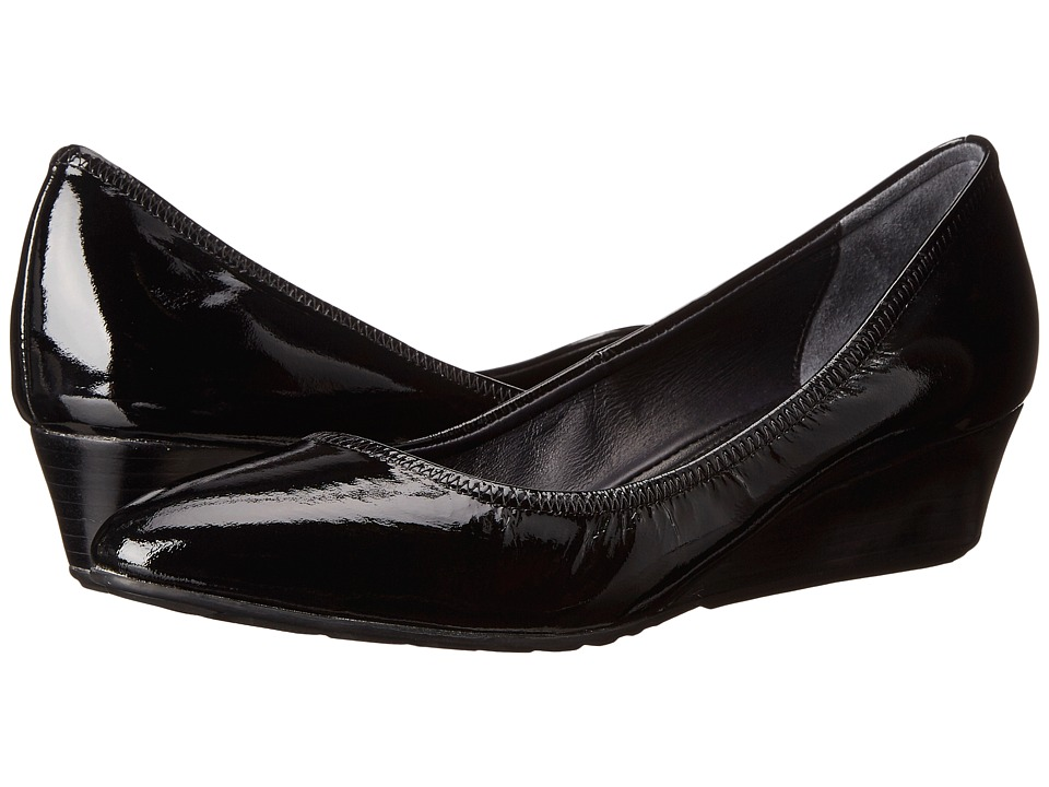 Cole Haan - Tali Lux Wedge (Black Patent) Women's Wedge Shoes