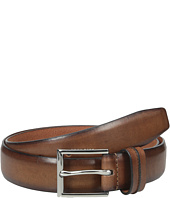 32mm Burnished Leather Harness Buckle Belt Cole Haan