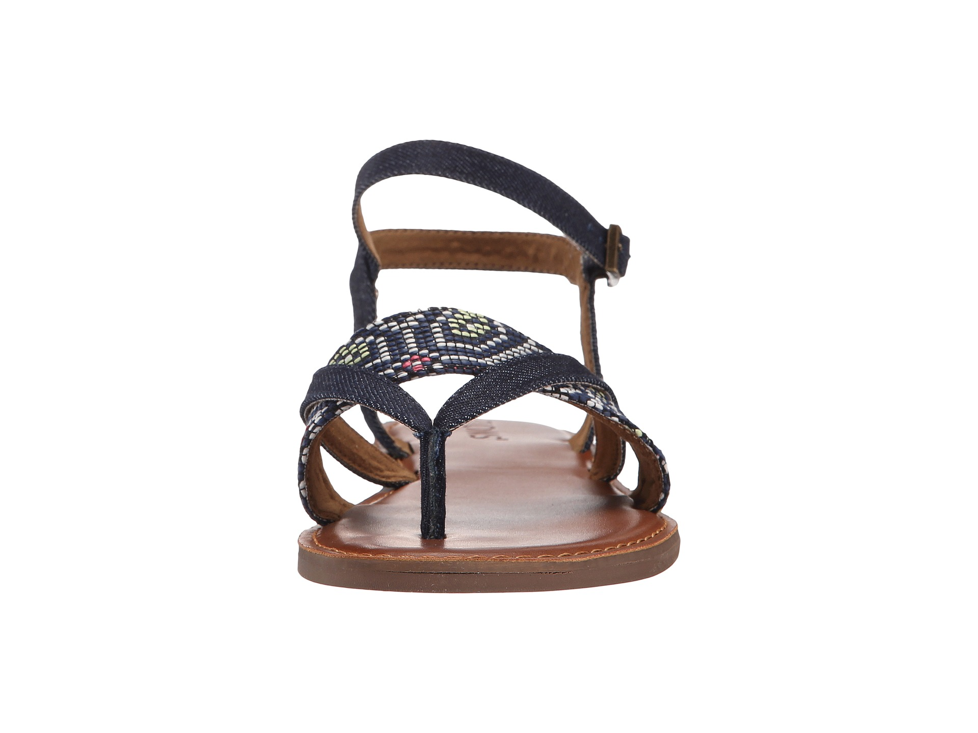 Toms Lexie Sandal Navy Multi Woven Zappos Com Free