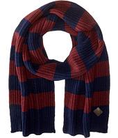 Striped Cardigan Stitch Muffler Cole Haan