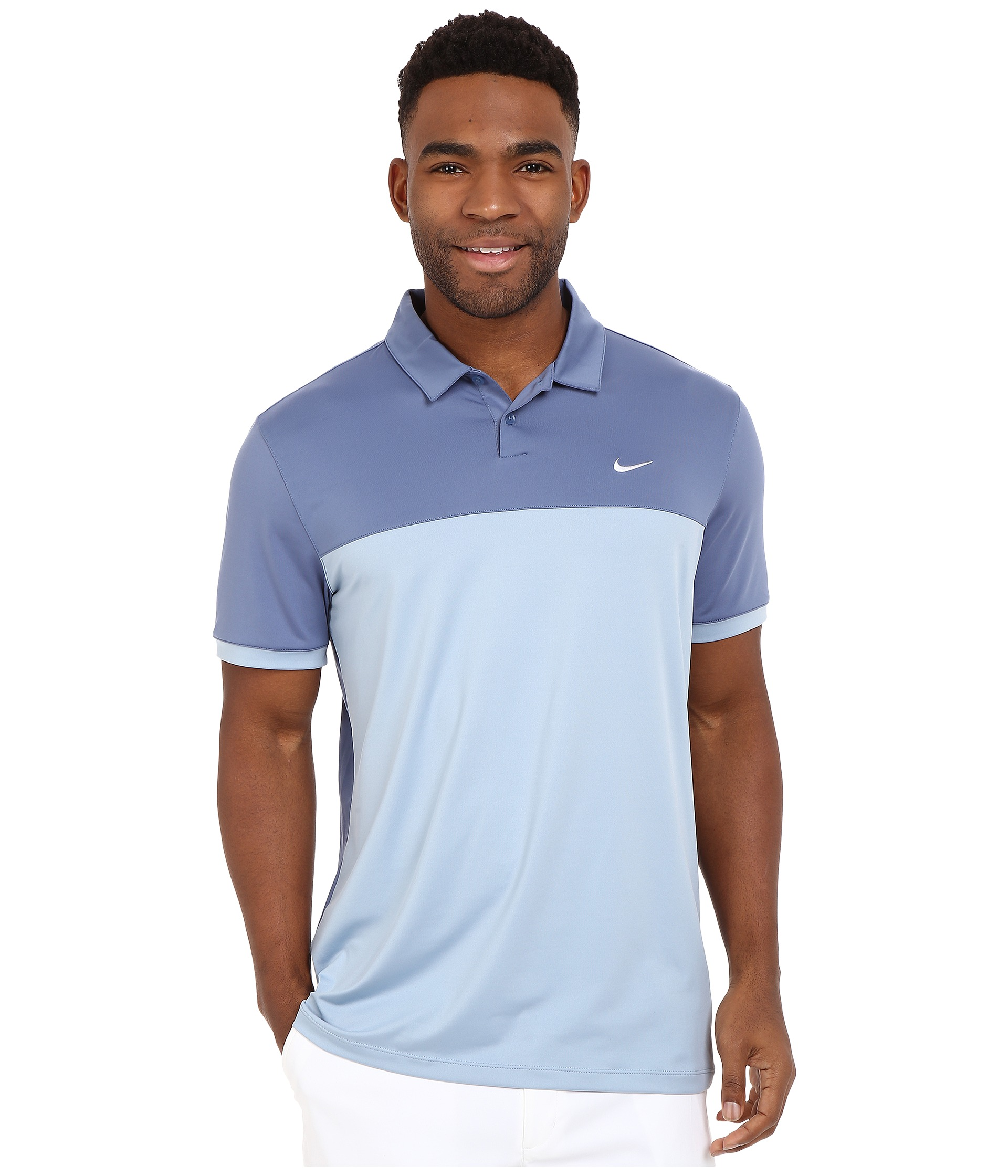 2ca86196 Nike Golf Icon Color Block Polo Ocean Fog/Blue/Grey/White on PopScreen