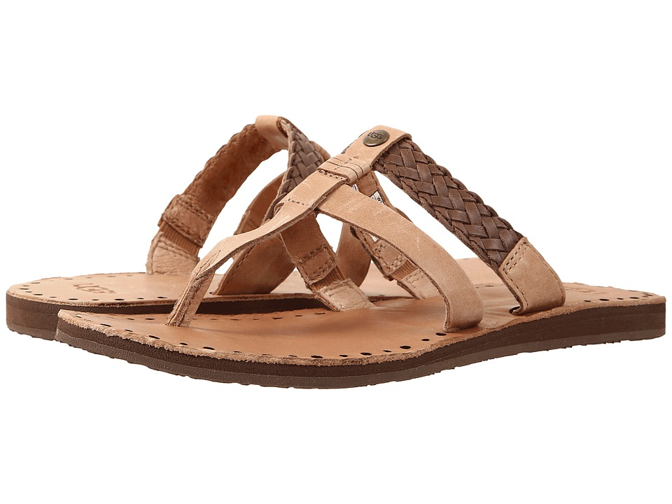 Ugg Australia Womens Audra Thong Sandals Braided Leather