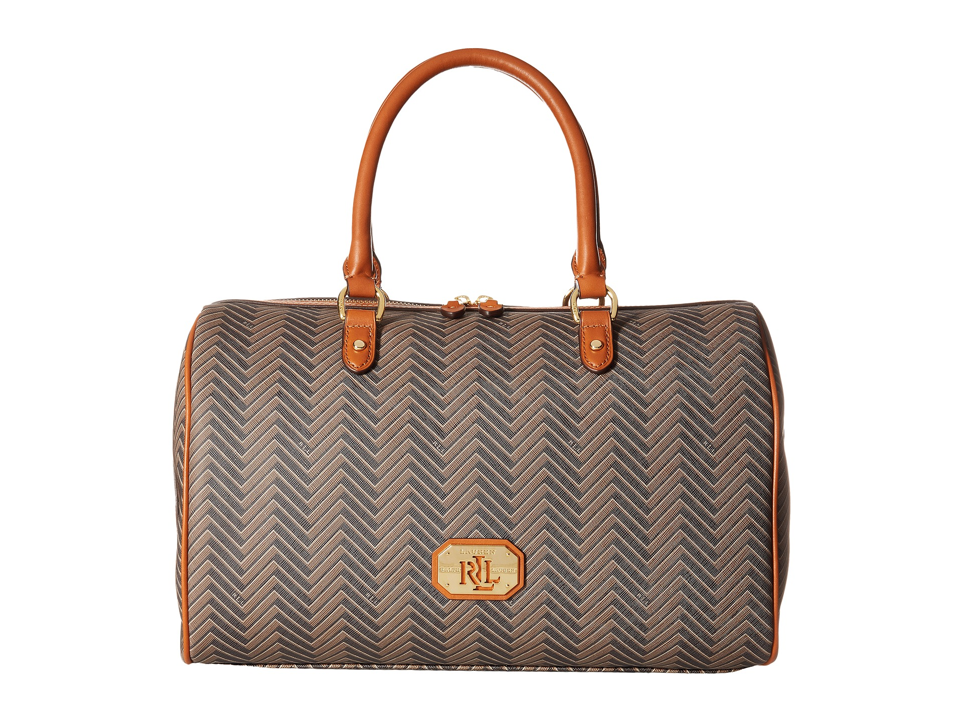 Ralph Lauren truly is a lifestyle label. Lauren by Ralph Lauren is one the brand's diffusion lines and it marries the traditional heritage feel of Ralph Lauren with an elegant, feminine and polished aesthetic. Shop the range of women's Lauren by Ralph Lauren totes for chic day-to-night bags that will stand the test of time and season.