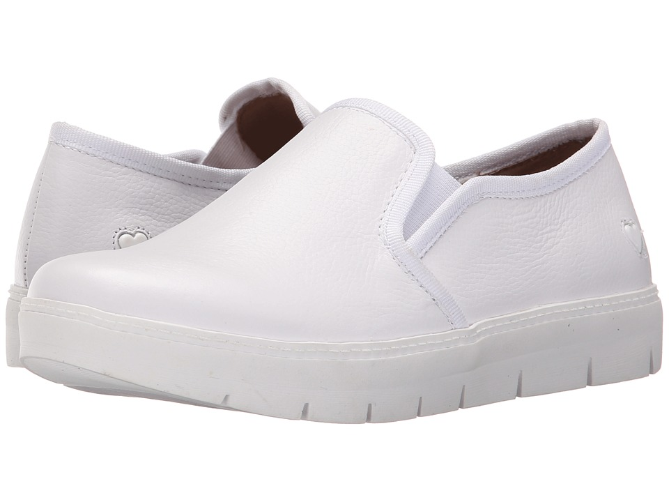 Nurse Mates White Slip On Shoes