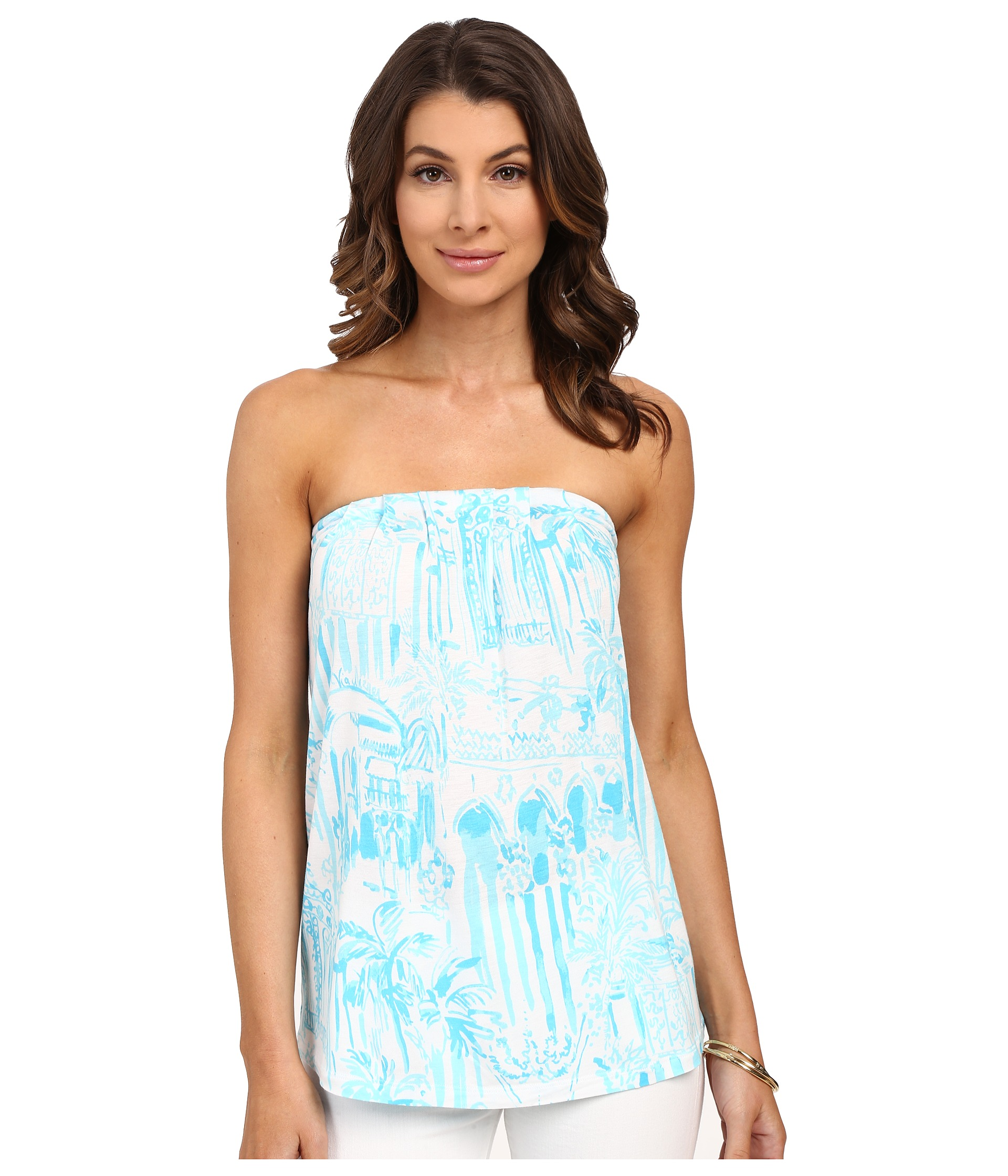 e7f54815e3a Lilly Pulitzer Tyra Tube Top on PopScreen