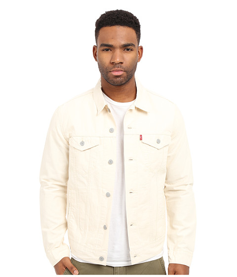 Levi S 174 Mens The Trucker Jacket White Chambray Zappos