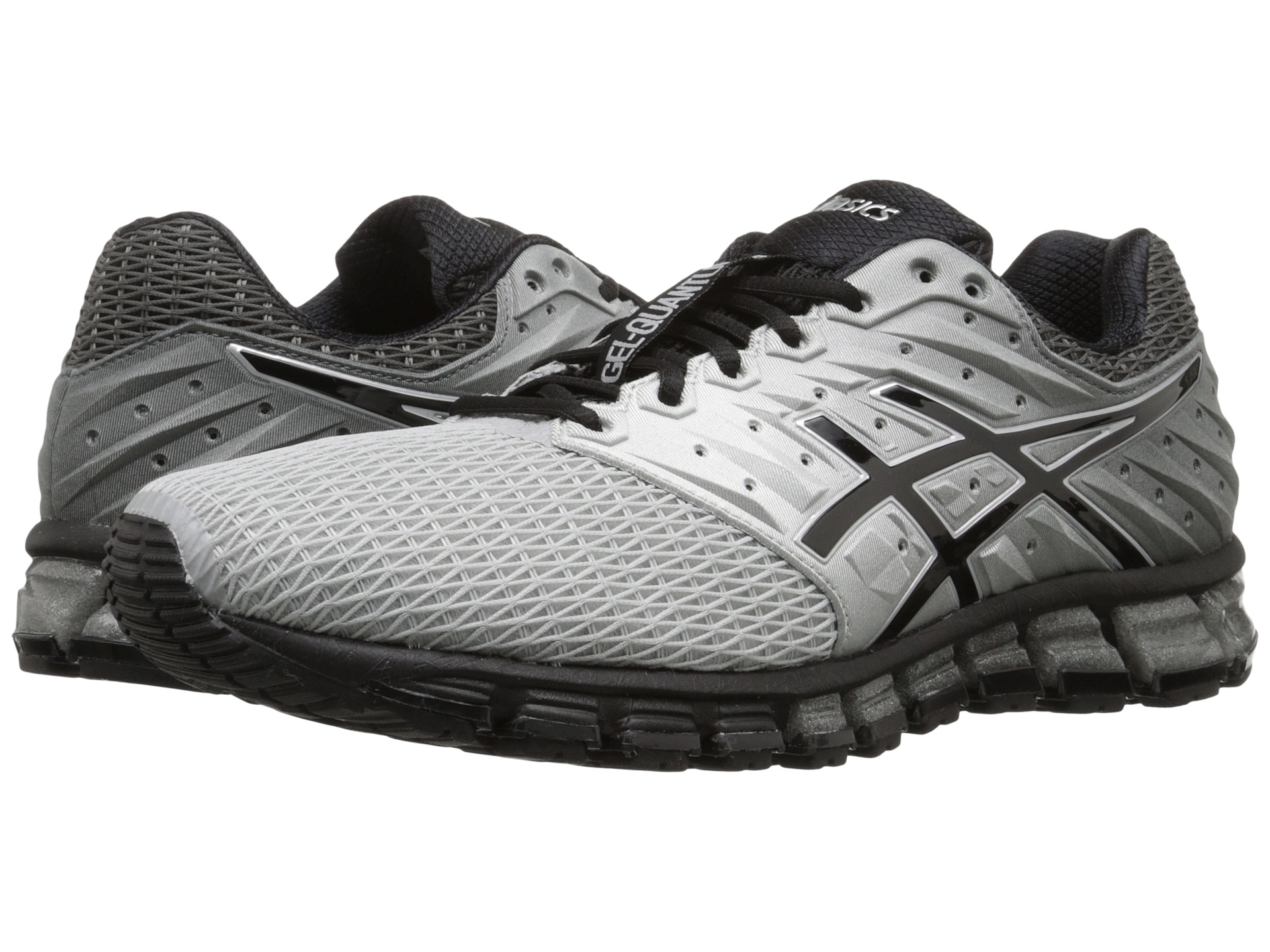 asics gel quantum 180 2 mid grey black silver free shipping both ways. Black Bedroom Furniture Sets. Home Design Ideas
