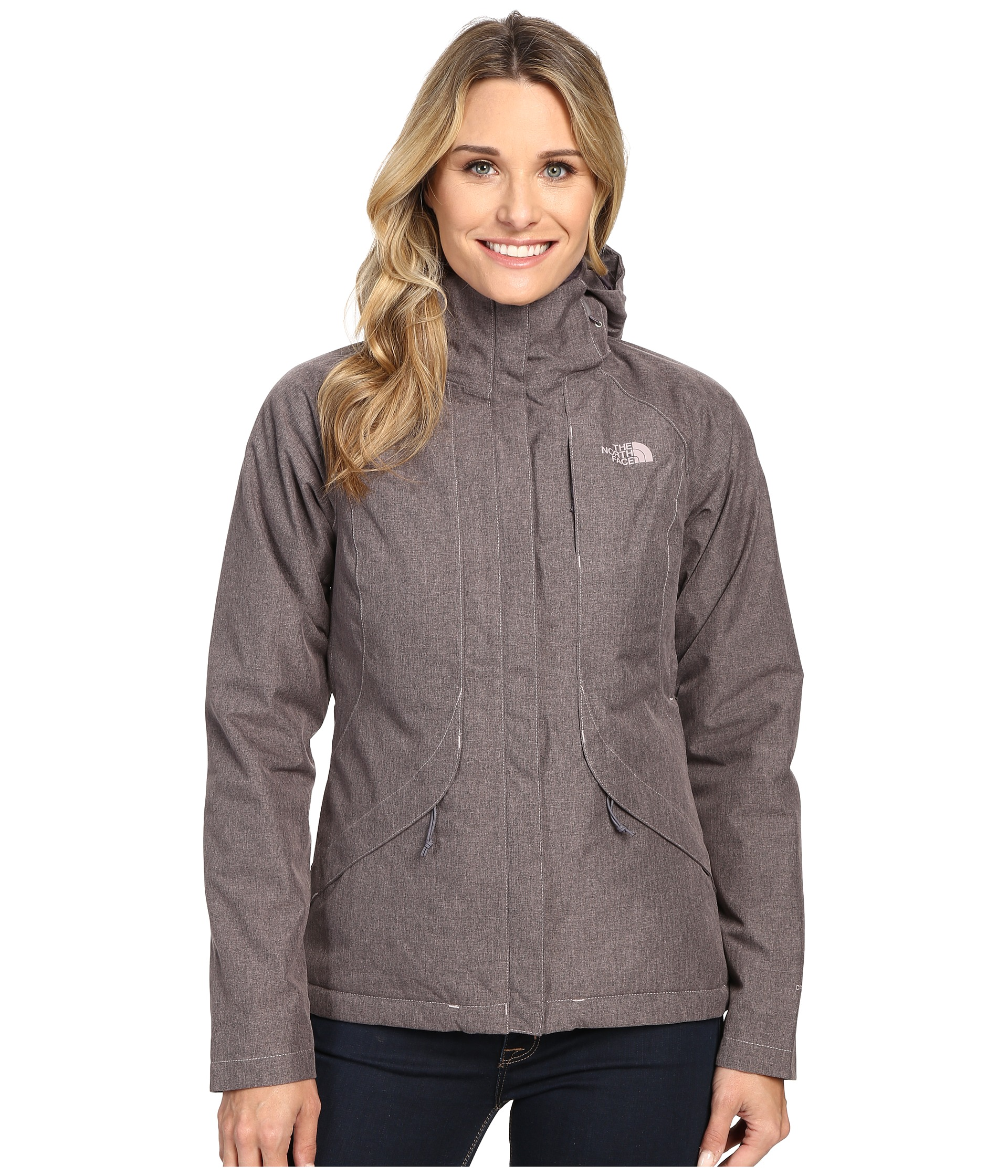 20f11531b3bf The North Face Inlux Insulated Jacket Quail Grey Heather on PopScreen