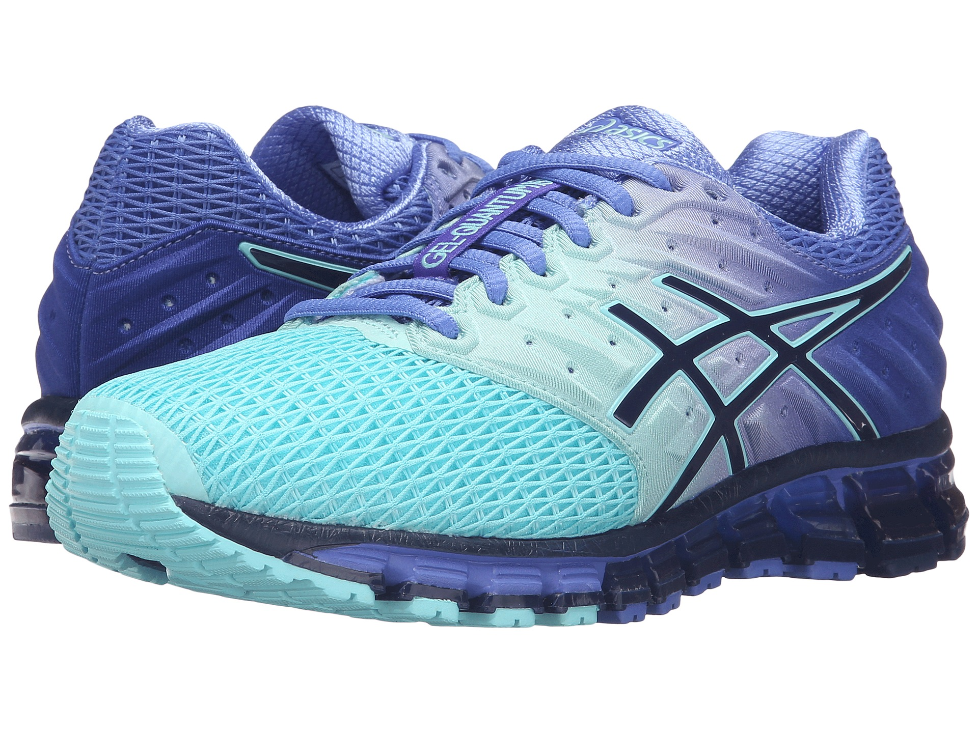 asics gel quantum 180 2 aruba blue blue print primrose purple free shipping both ways. Black Bedroom Furniture Sets. Home Design Ideas