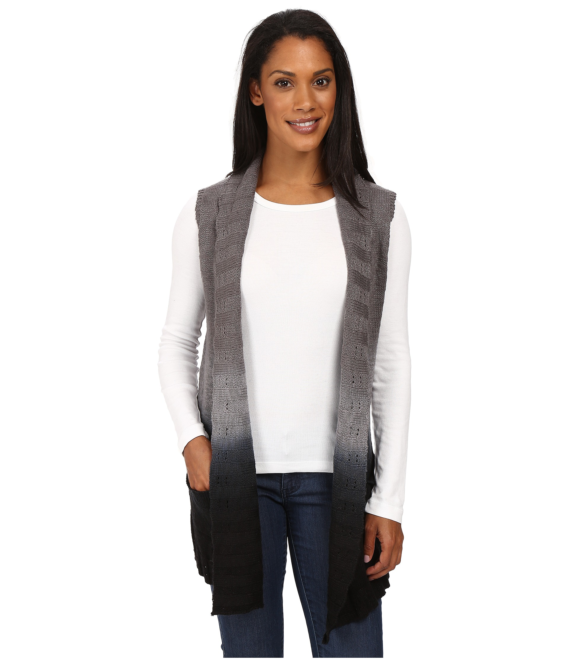 8abb196d7a3 Aventura Clothing Kennedy Sweater Black Smoked Pearl - Zappos.com ...