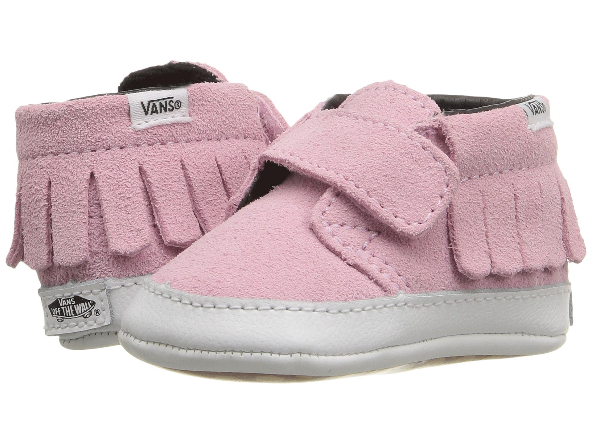 9334f903d18876 Vans Kids Chukka V Moc Crib (Infant Toddler) (Suede) Pink Mist on ...