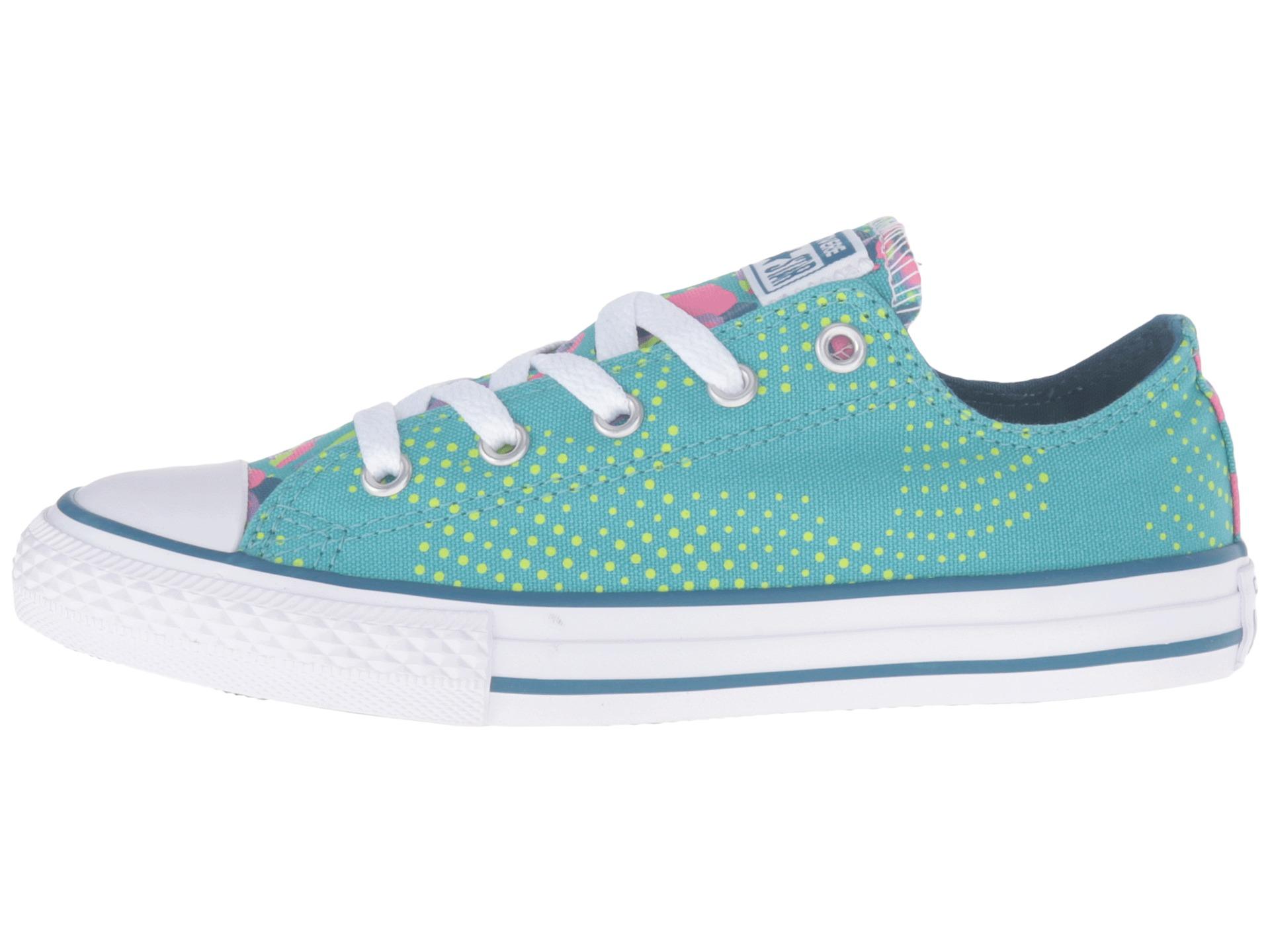 Big Kids Aqua Converse Shoes
