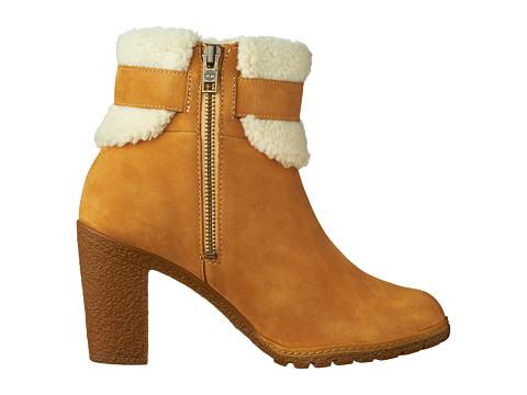 Timberland Glancy Teddy Fleece Fold Down Boot Wheat Nubuck