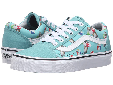 Vans Old Skool Pastel Ice Green Leather Shoes