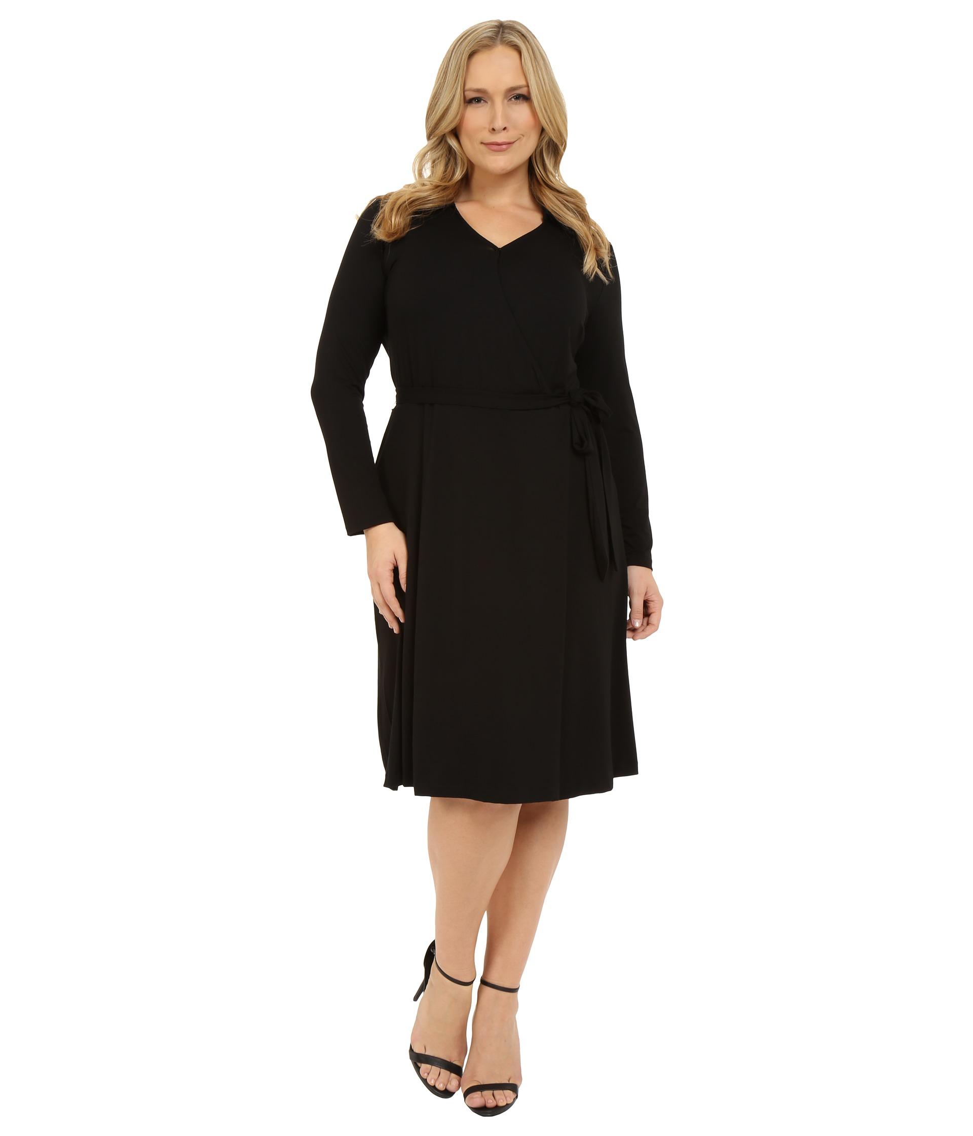 Vince Camuto Plus Plus Size 3 4 Sleeve Faux Wrap Dress