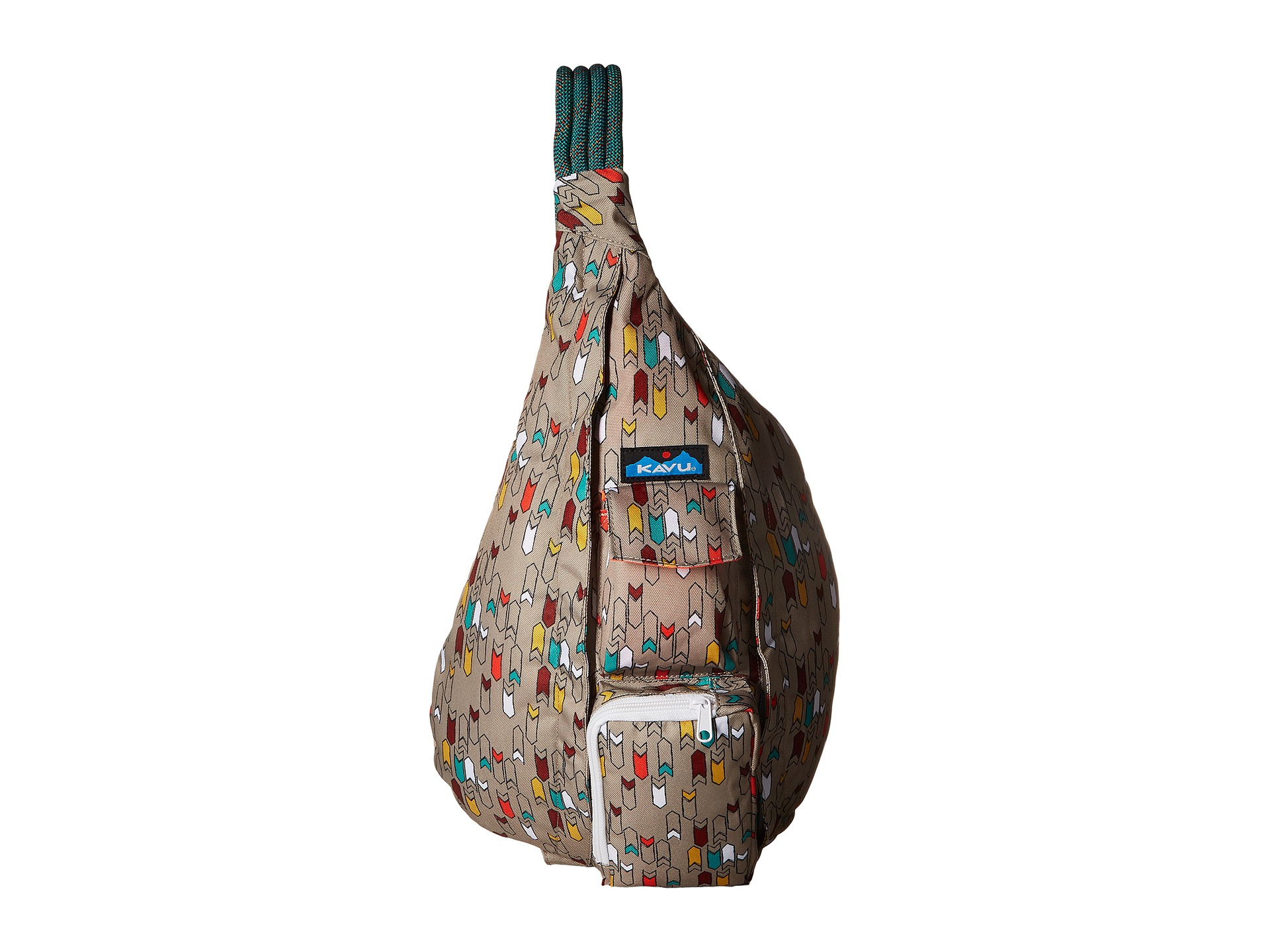 KAVU Womens Rope Bag PAINTED FLORAL Backpack 944-1001 Sling Travel Multi NWT