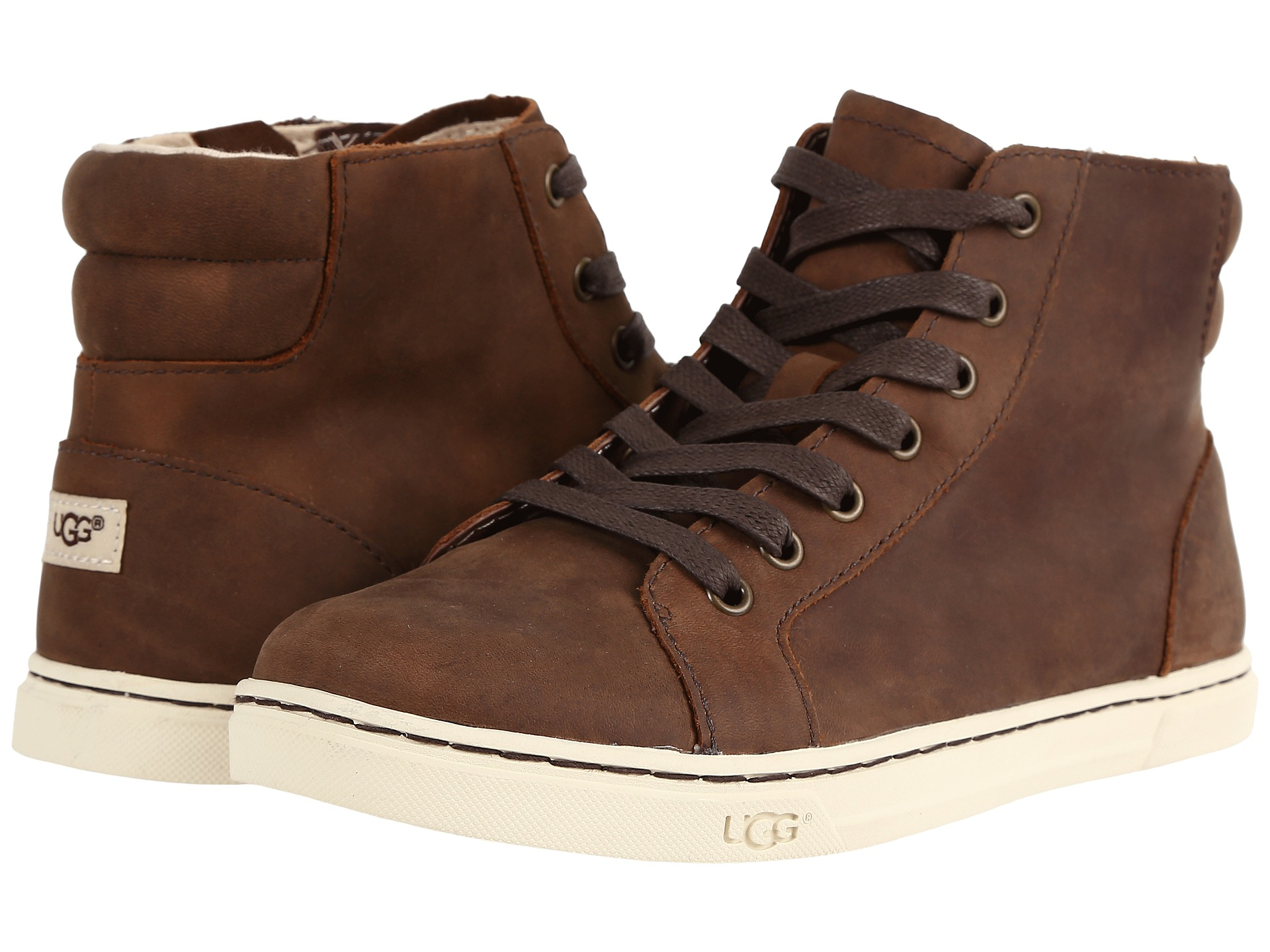 UGG Croft Flat Lace Up Ankle Boots in Brown Lyst