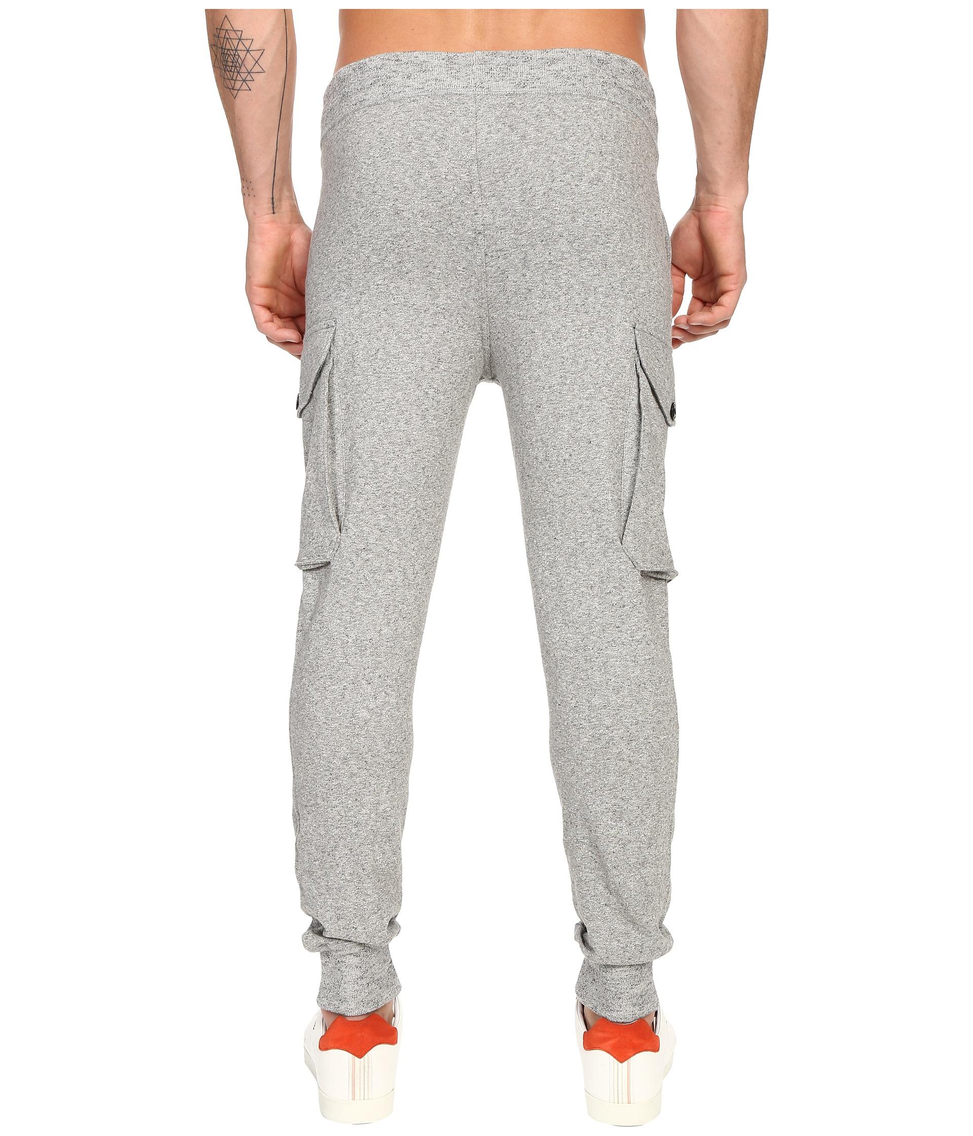 Todd Snyder + Champion Slim Cargo Sweatpants Grey Heather