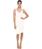 Badgley Mischka Long Sleeve Cowl Neck Dress With Belt