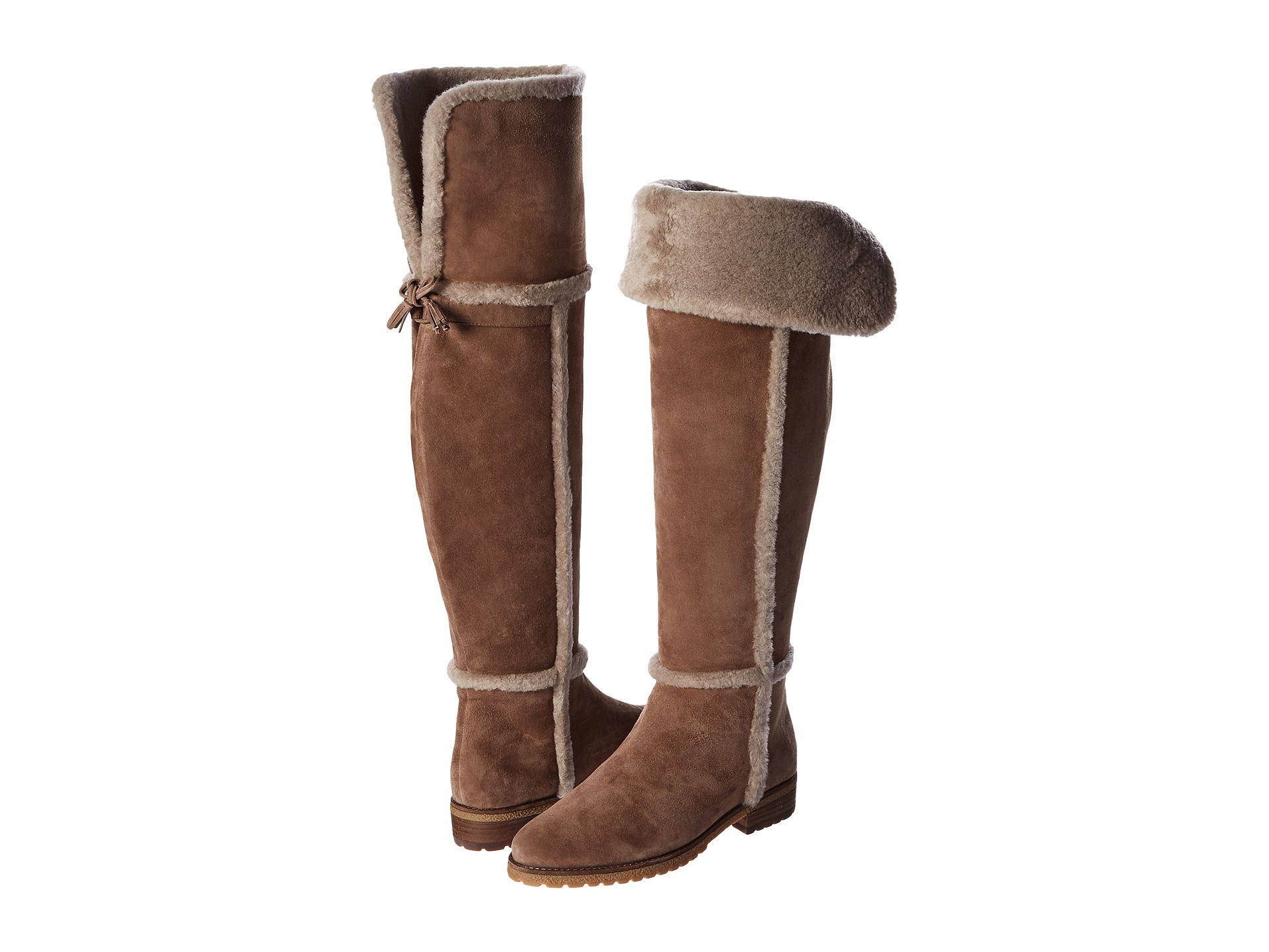 Frye Tassel Detailing Tamara Shearling Over The Knee