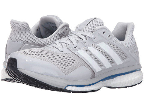 511bbe708 adidas Running Supernova Glide 8 Soft Grey White Blue - Zappos.com ...