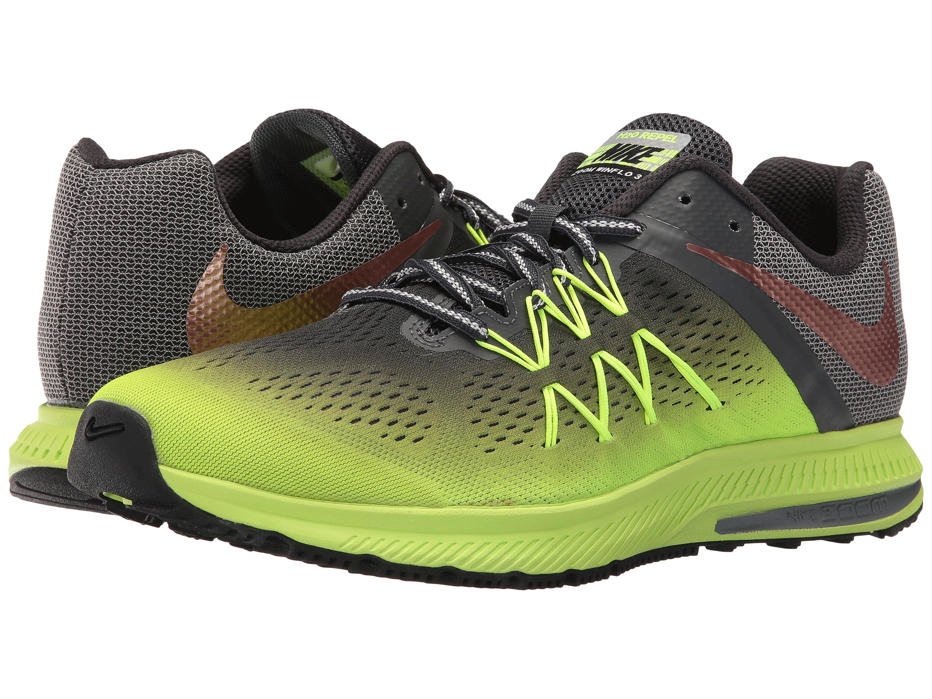 quality design 22b79 362d6 ... nike zoom winflo 3 womens green red . ...