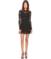 Kiyonna Gigi Lace Cinch Dress Blush Lining Black Lace