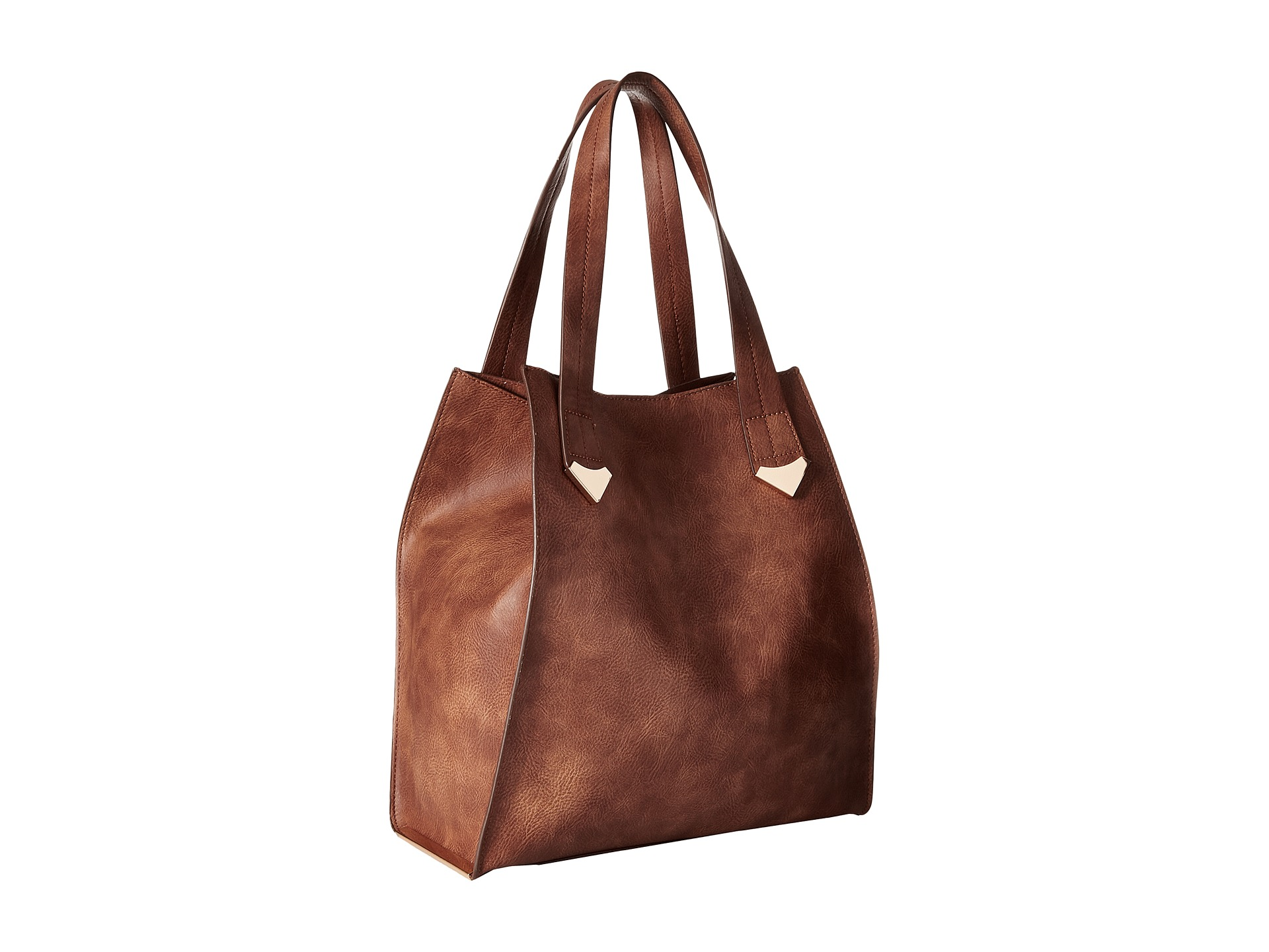 Samantha Brown Luggage Qvc: Steve Madden Brylee Large Tote Cognac